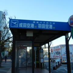 成田空港・羽田空港行バス停