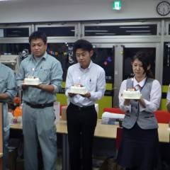 戸田さん、宮崎さん、長廻さん、角田君、佐々木さんお誕生日