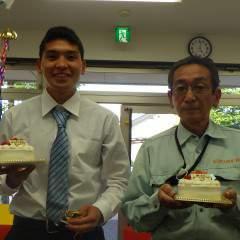 皀さん、石橋くん、小倉さん、大塚さんお誕生日