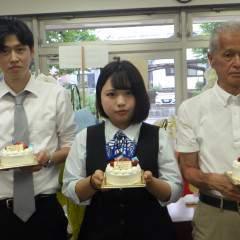 石本さん、若林さん、仲村くん誕生日